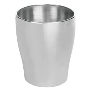 MDesign Wastebasket Trash Can For Bathroom, Kitchen, Office U2013 Brushed  Stainless Steel Round Wastebasket Great For Trash Or Recycle Brushed,  Classic Finish ...